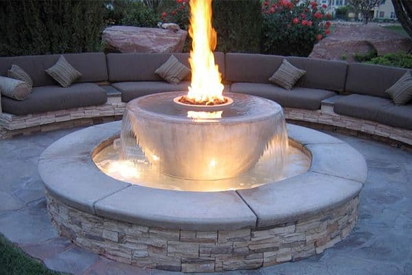 Fire Pit And Fountain Ideas