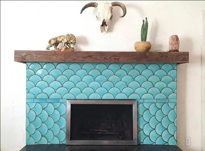 Fish Scale Fireplace Tiles