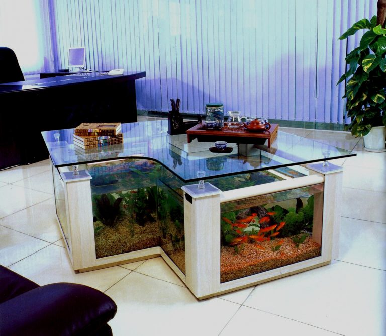 Glam Fish Tank Coffee Table
