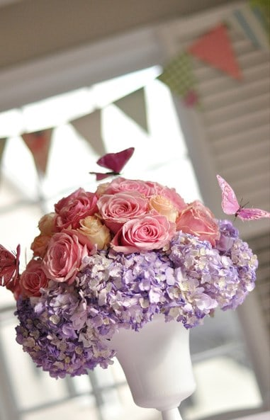 Flower Bouquet With Butterfly Decorations