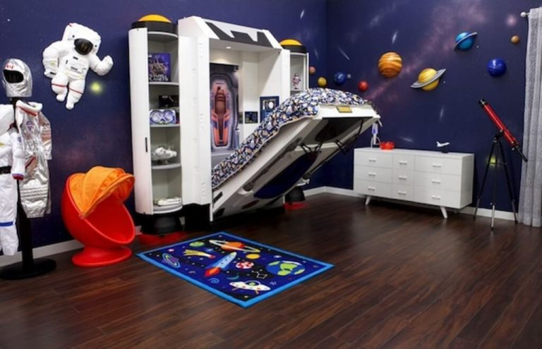 Folding Bed Space Themed Bedroom