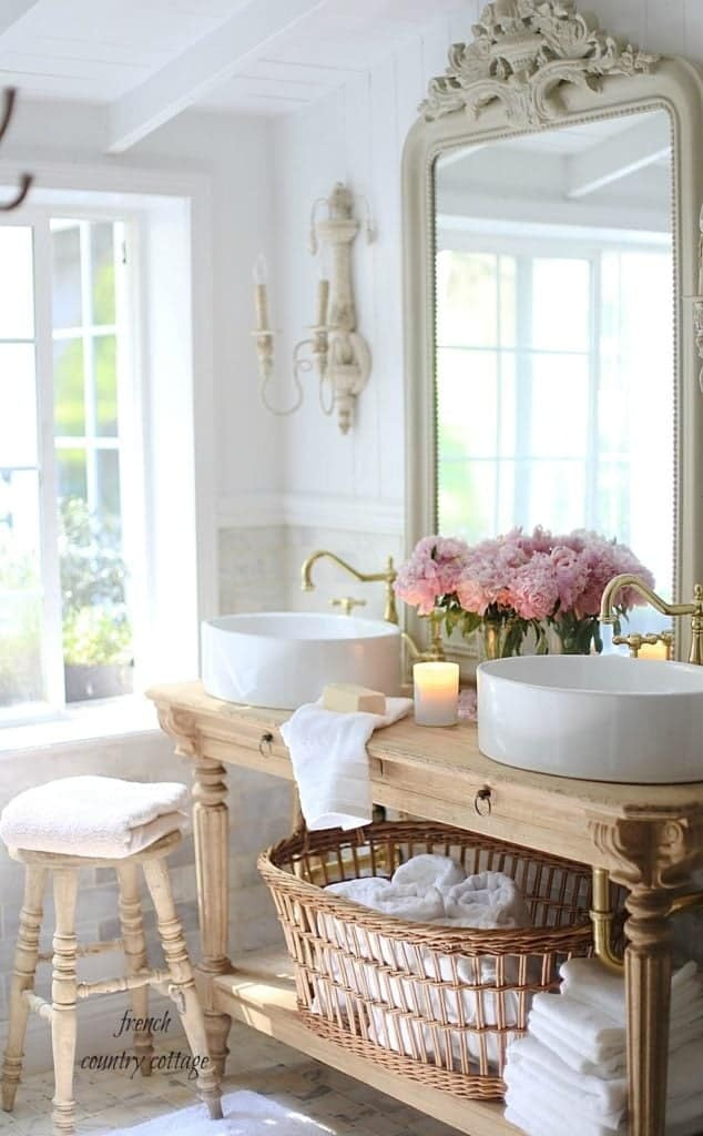 French Shabby Chic Bathroom