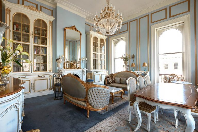 French Style Mansion Living Rooms