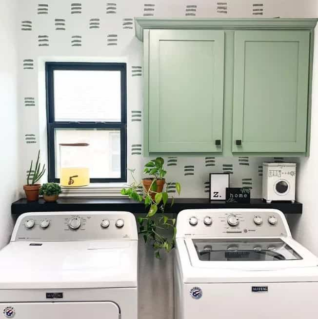 Fresh Green Laundry Room Paint Colors
