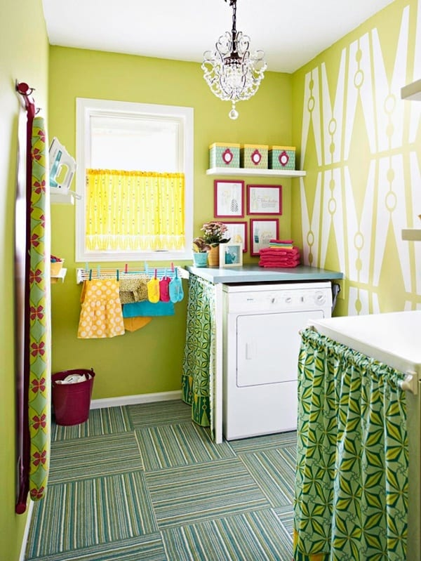 Fresh Lime Laundry Room Paint Colors