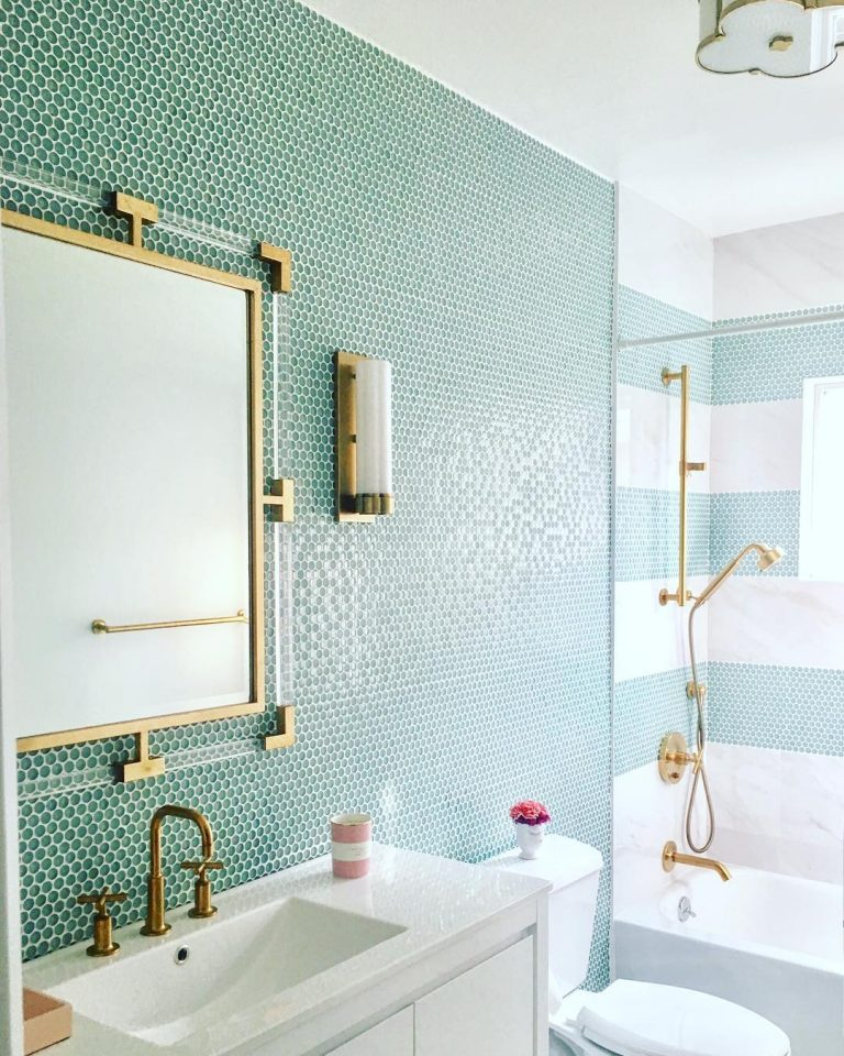 Fresh Penny Tile Bathroom