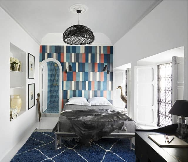 Geometric Wall Paint For Bedroom