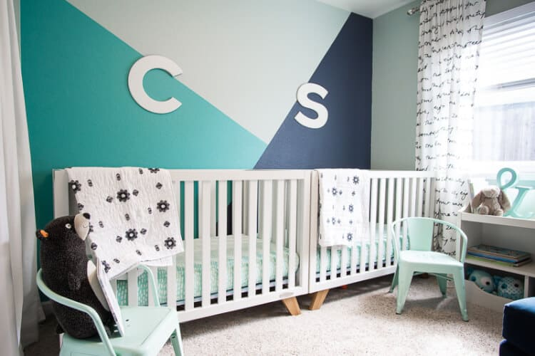 Geometric Wall Paint For Nursery Room