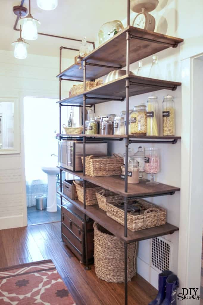Giant Industrial Open Kitchen Shelving