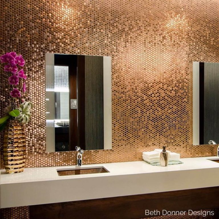 Glam Copper Penny Tiles