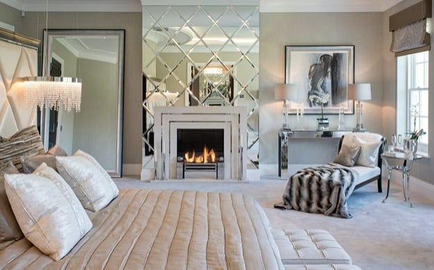 Glass Art Deco Bedroom