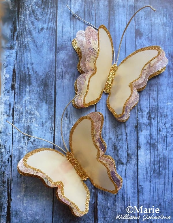 Glitter Butterfly Decorations