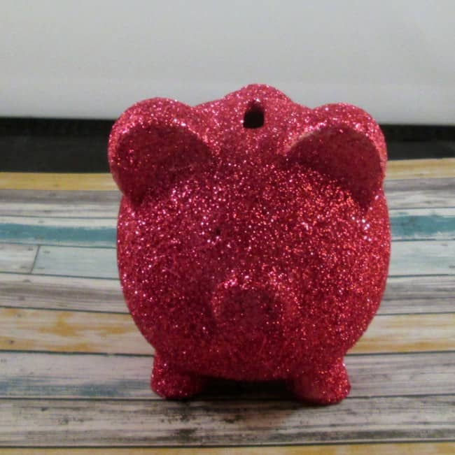 DIY Glittered Piggy Bank