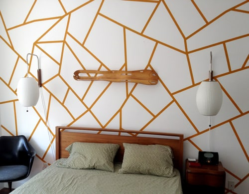 Gold Lining For Fancy Geometric Wall Paint