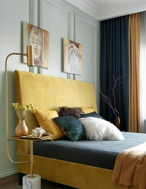Golden Art Deco Bedroom