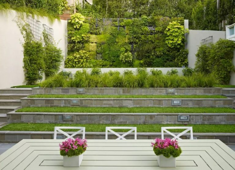 Terraced Backyard Idea