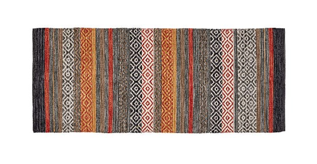 Gray Colorful Kitchen Runner Rugs
