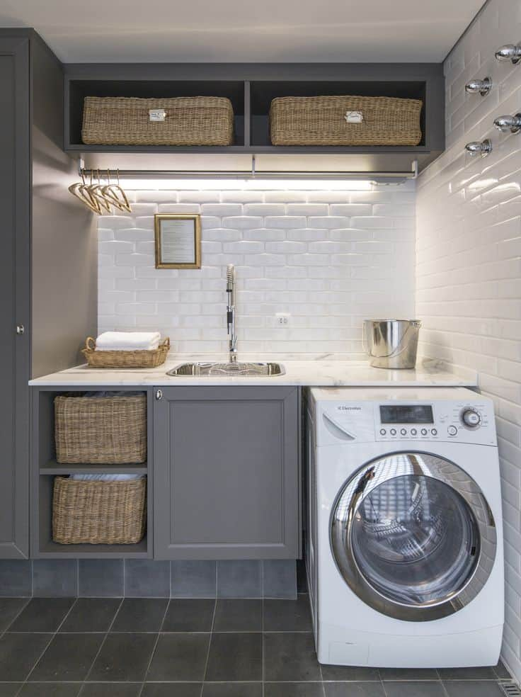 Grayish Laundry Room Ideas