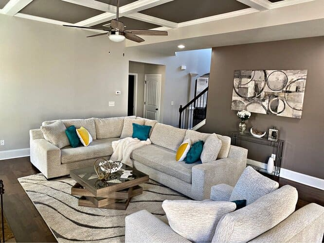 Grey And White Basement Ceiling Ideas