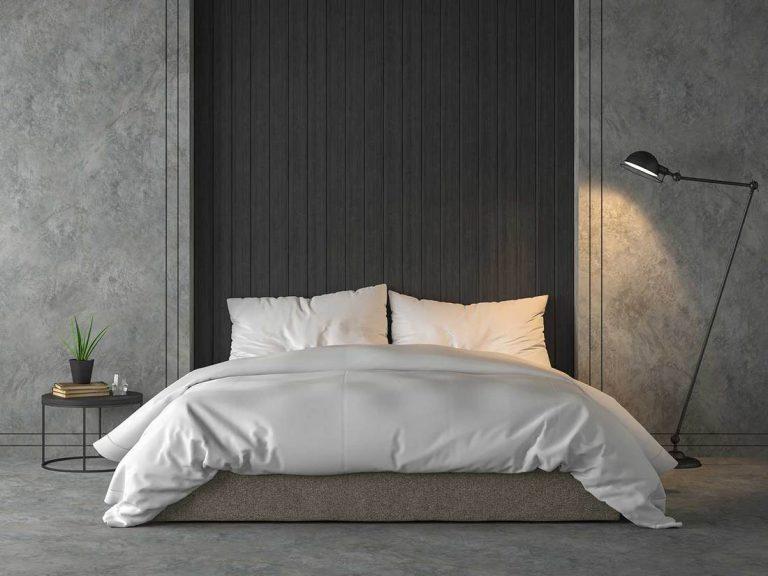 Grey Industrial Bedroom