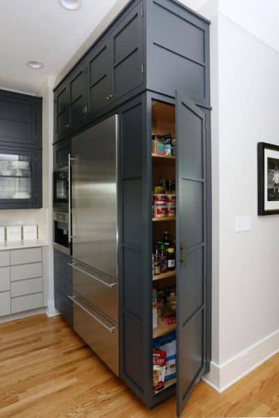 Grey Kitchen Cabinet With Cupboard