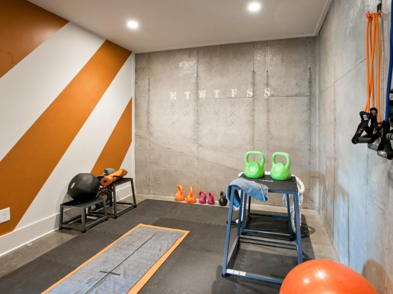 Gym-Inspired Recreation Room