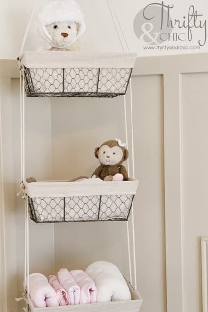 Hanging Wire Baskets Animal Stuffed Storage