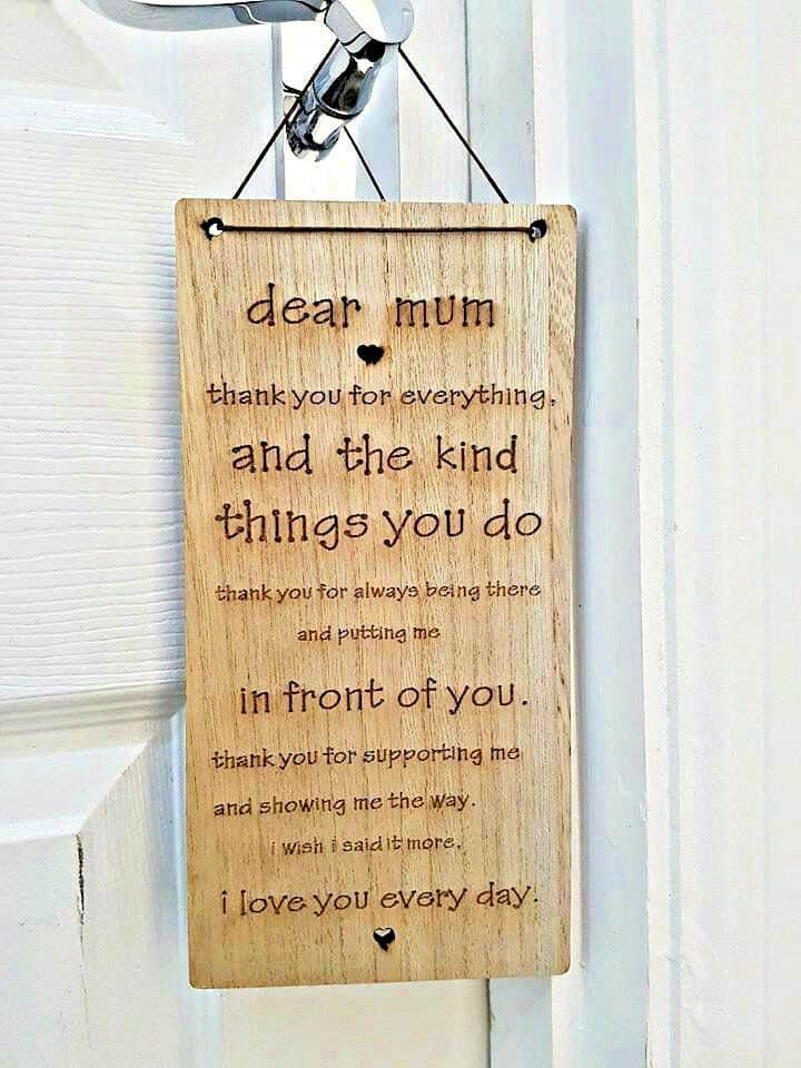 Hanging Wooden Plaque Mothers Day Signs