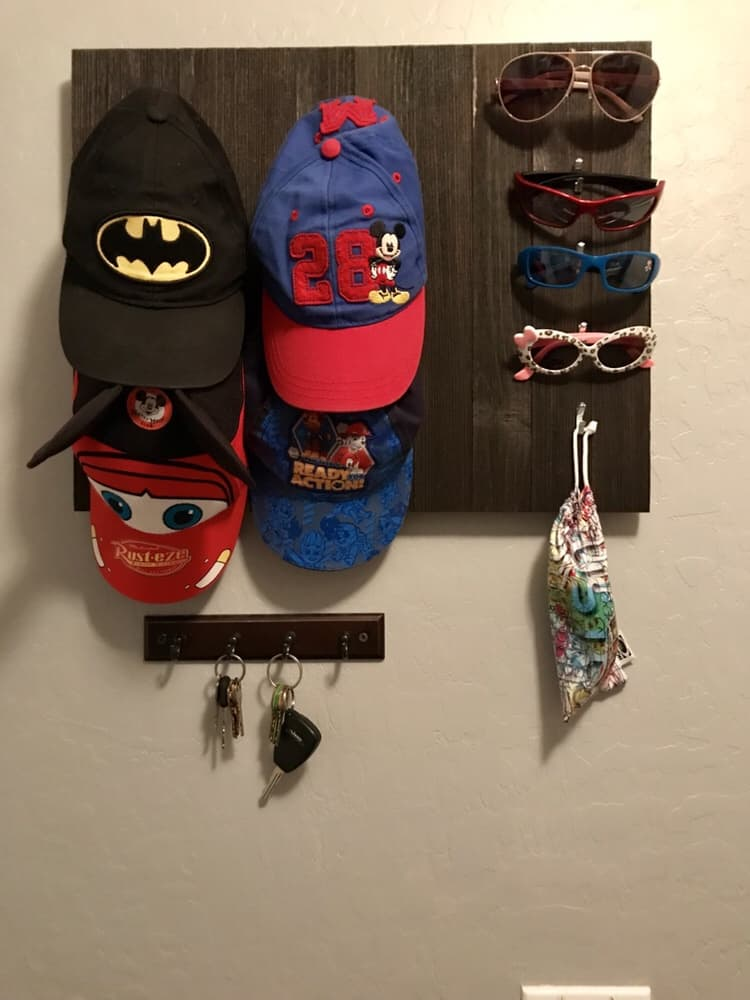 Hat and Sunglasses Holder