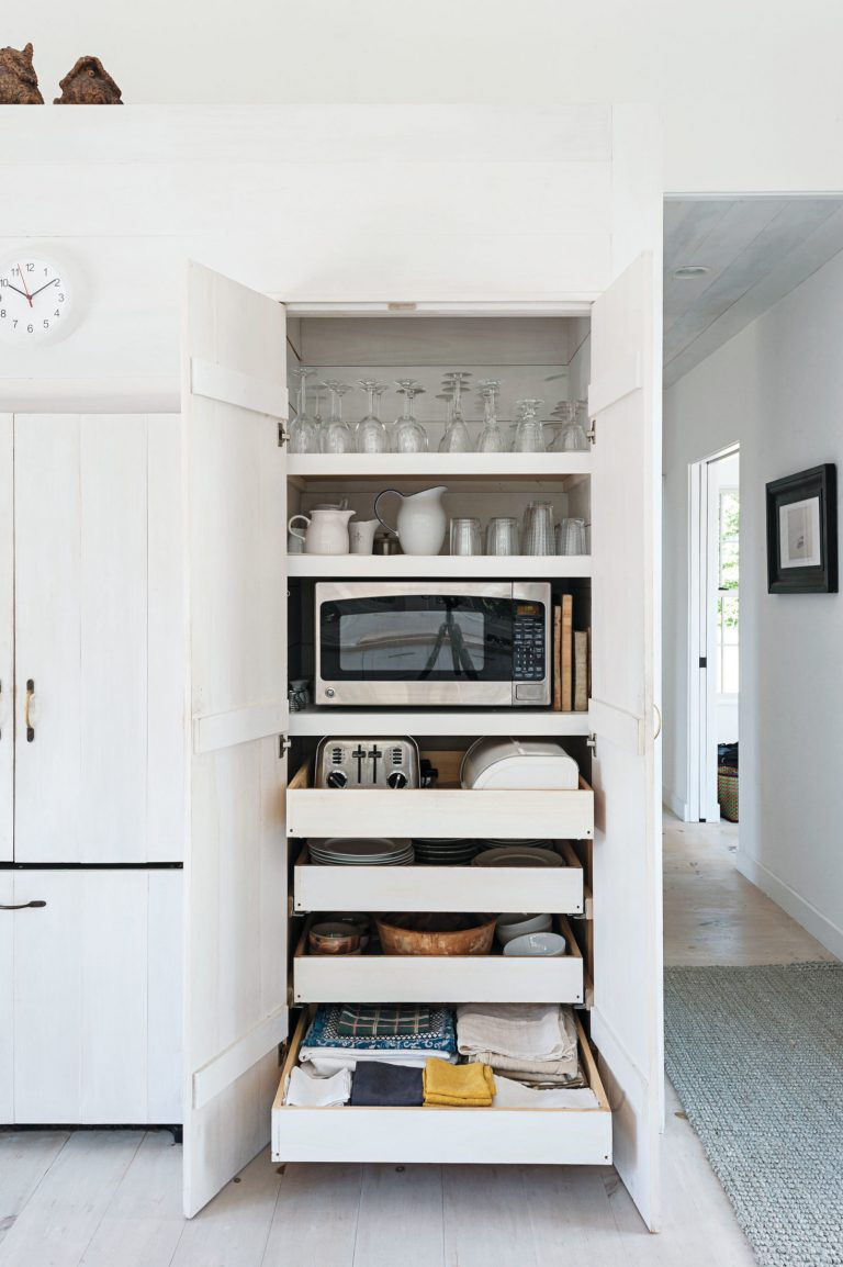 Hidden Appliances White Kitchen