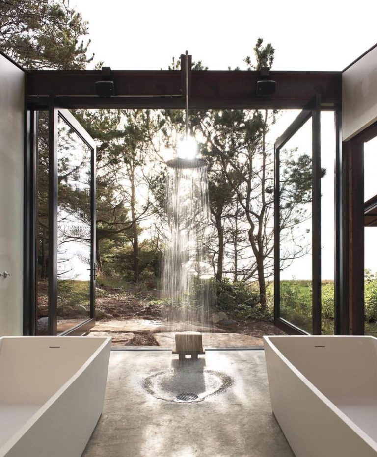 His and Hers Outdoor Shower