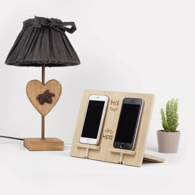 DIY His and Hers Phone Charging Station