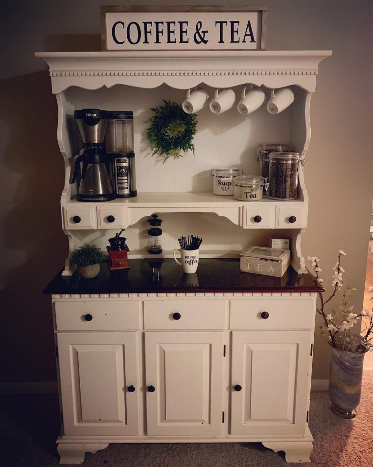 Home Coffee Bar Made From Hutch