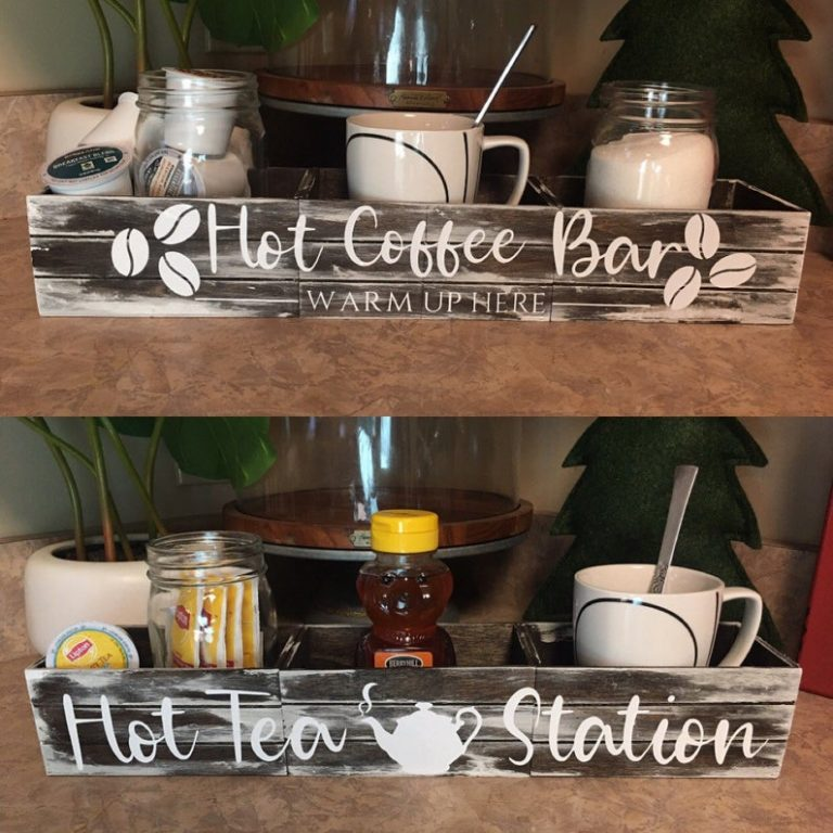 Hot Coffee And Hot Tea Station Ideas