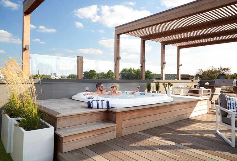 Hot Tub Rooftop Deck