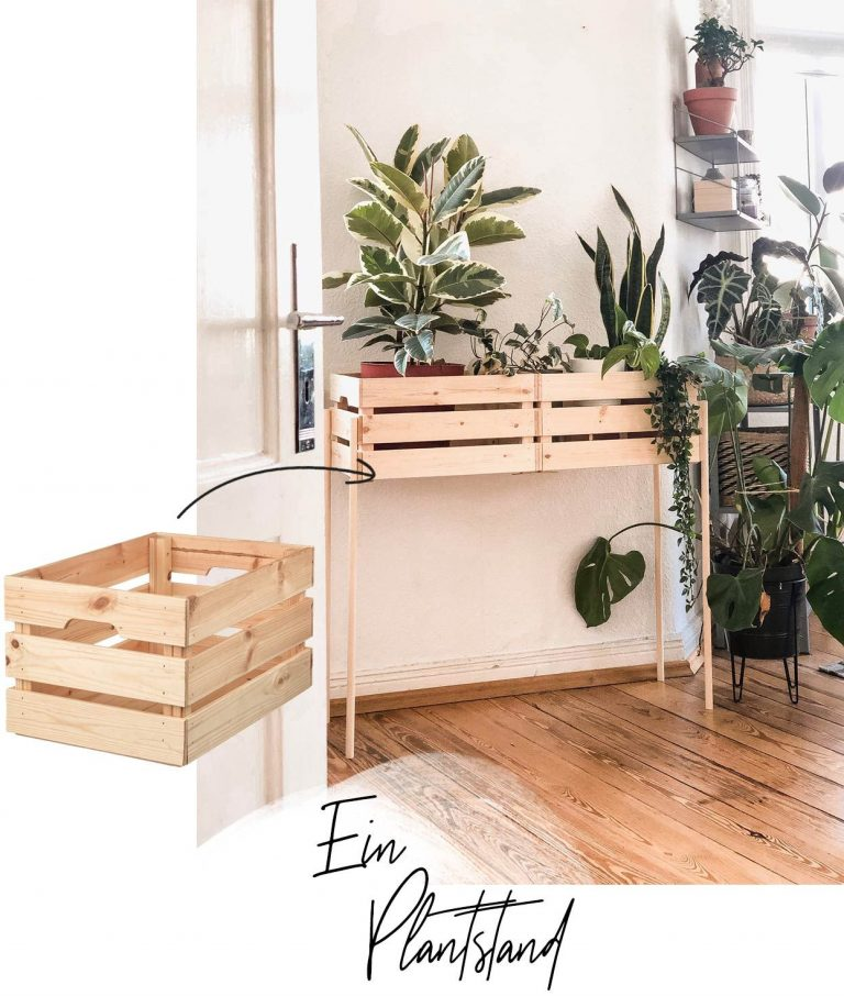 IKEA Boxes Plant Stand