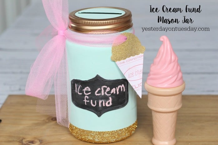 Ice Cream Fund Mason Jar
