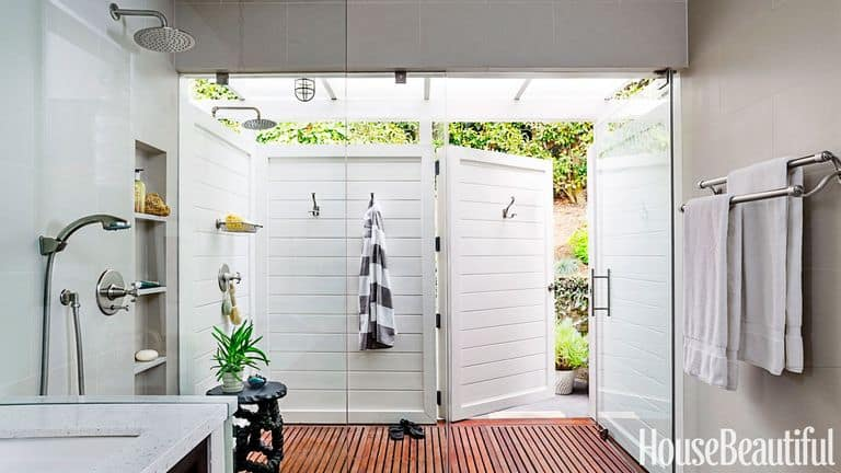 Indoor-Outdoor Shower Idea