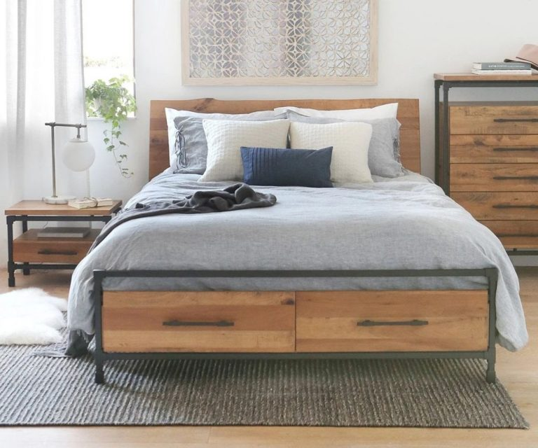 Industrial Bedroom With Multifunction Bed