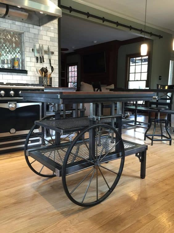 Industrial Kitchen Ideas With Upcycled Island