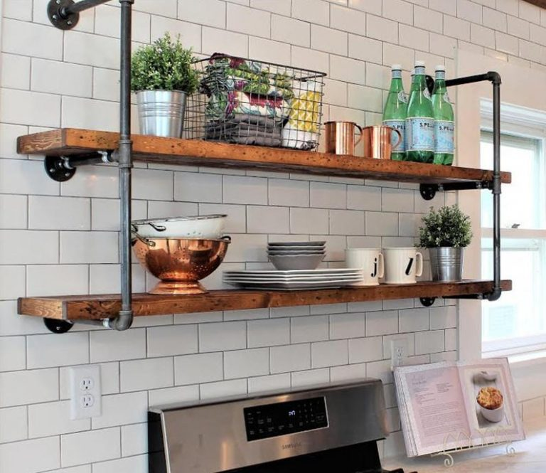 Industrial Open Kitchen Shelving