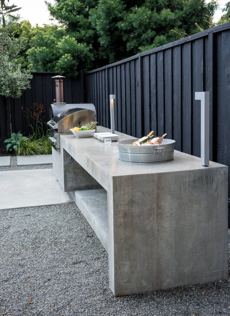 Industrial Outdoor Kitchen