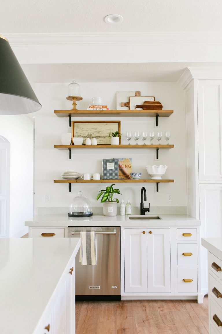 Industrial White Cabinets