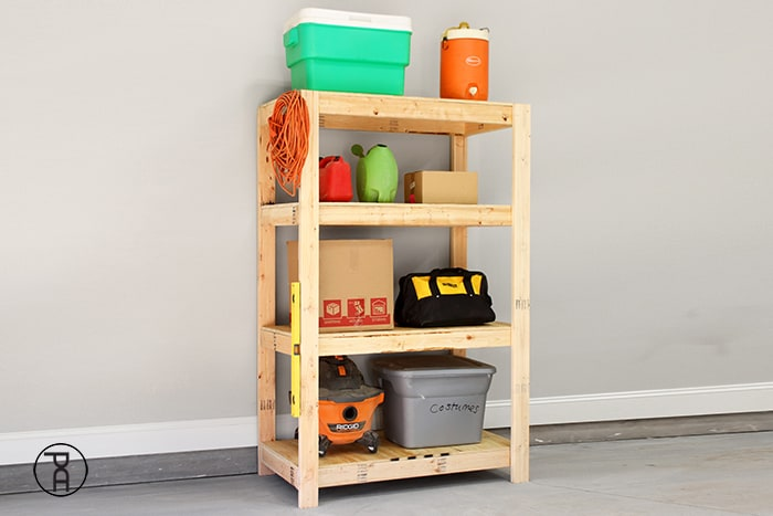 Inexpensive And Easy Garage Shelves