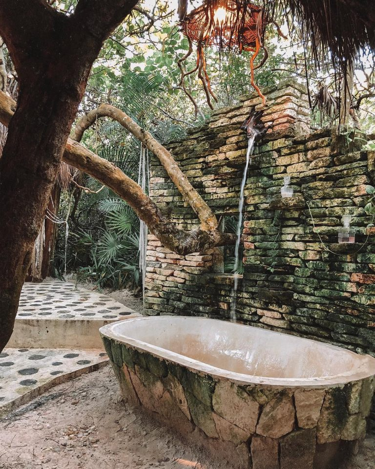 Junglelike Outdoor Shower