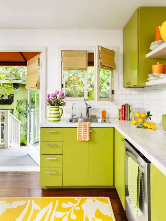 Lime Green Kitchen Cabinet