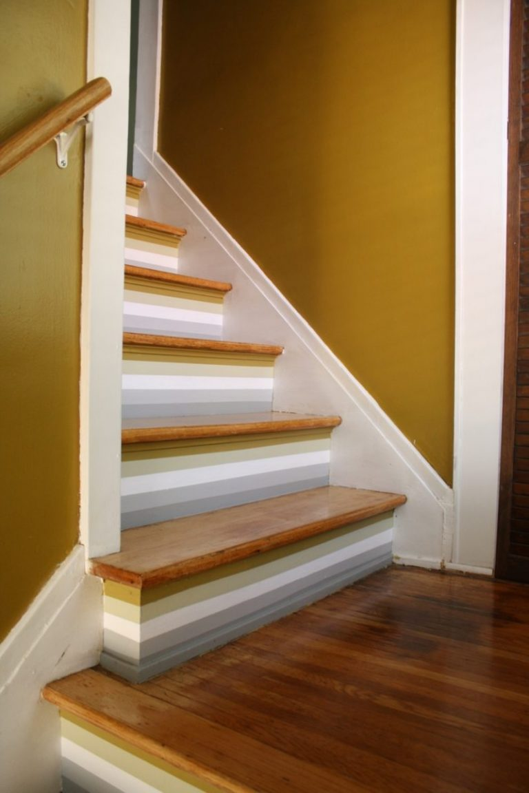 Painted Staircase Ideas - Lovely Stripes on Stairs