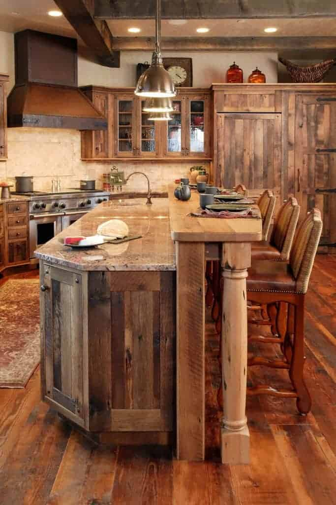 Luxurious Rustic Kitchen Cabinet