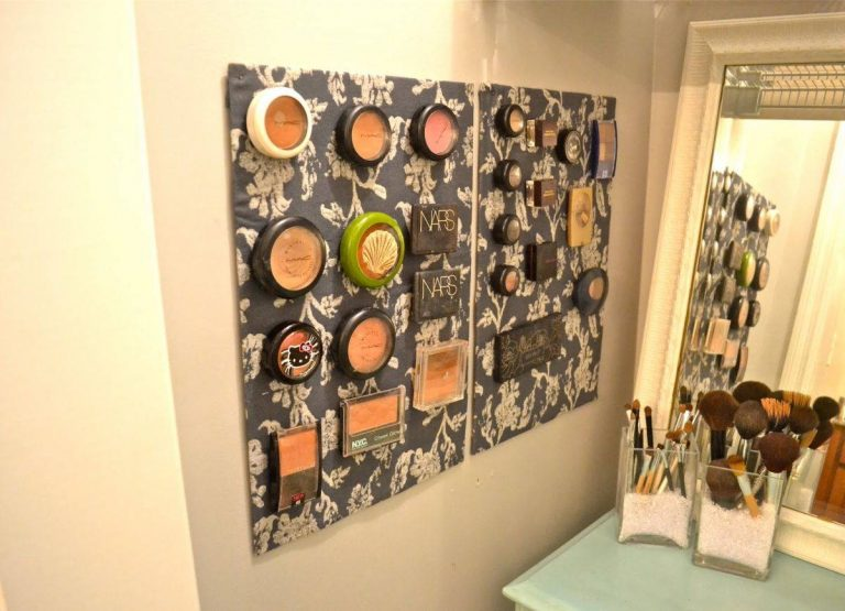 Magnetic Board Wall Makeup Storage Ideas