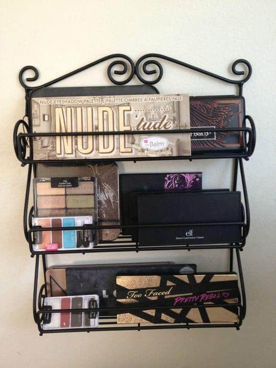 Metal Makeup Storage Ideas